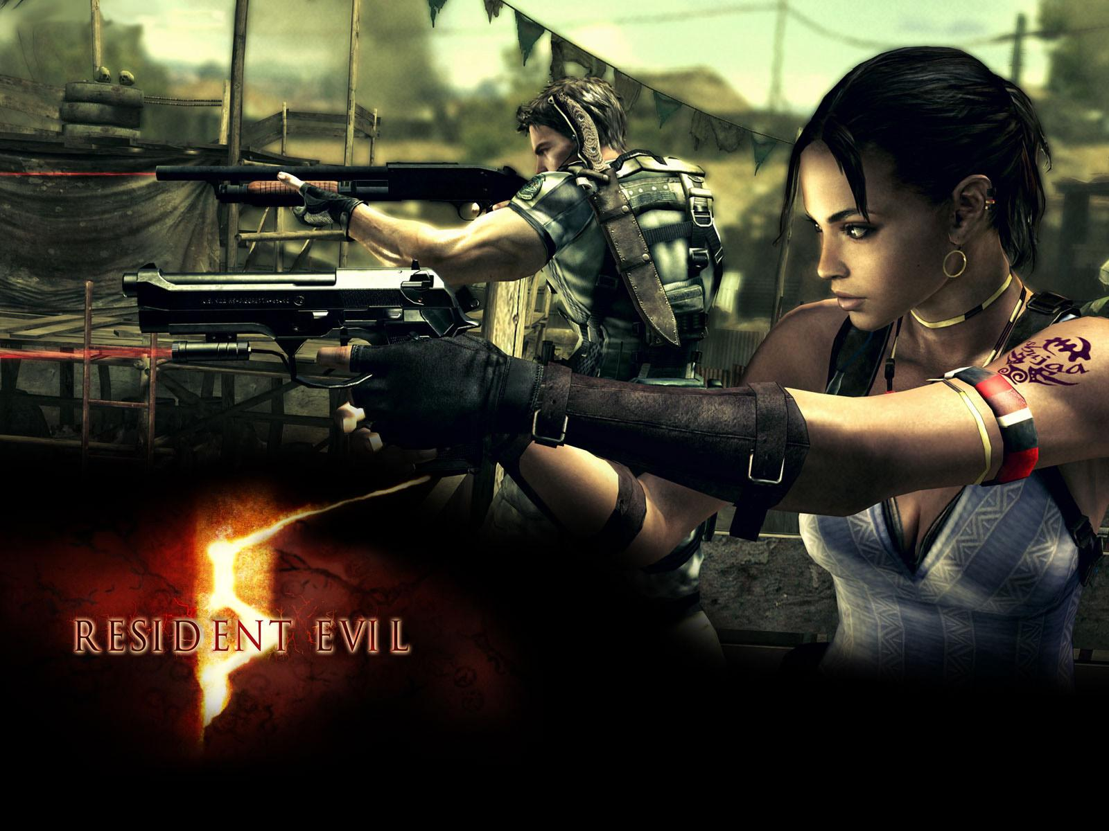 Screenshots from Resident Evil 5 Wallpaper.
